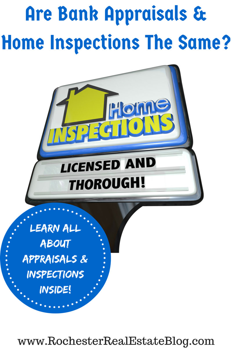 Are Bank Appraisals & Home Inspections The Same - Learn All About Appraisals And Inspections Inside