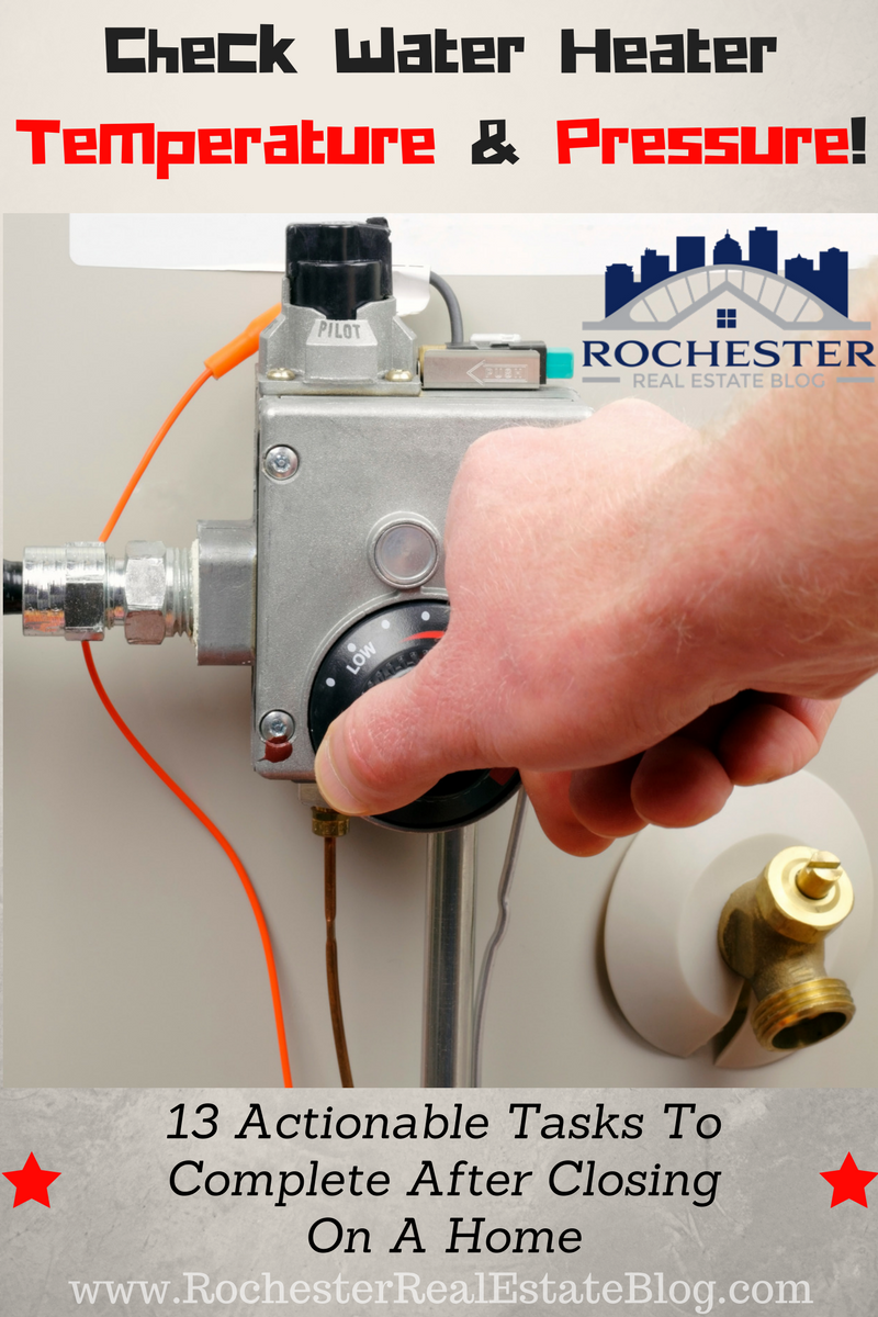 Check Water Heater Temperature & Pressure After Closing!