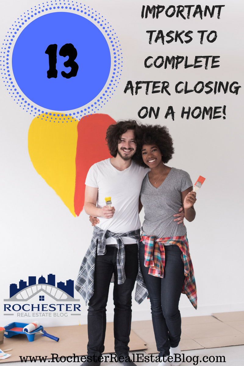 Top 13 Tasks To Complete After Closing On A New Home